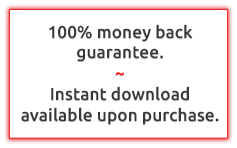 Money back guaranteed - Instant download upon purchase